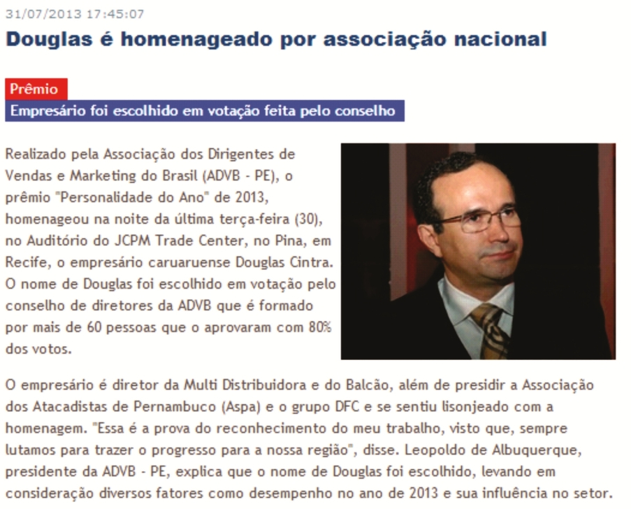 Clipping - Blog do Vanguarda - personalidade do ano