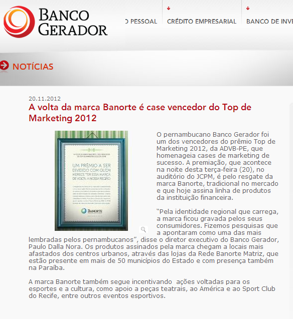 Banco Gerador Top Clipping