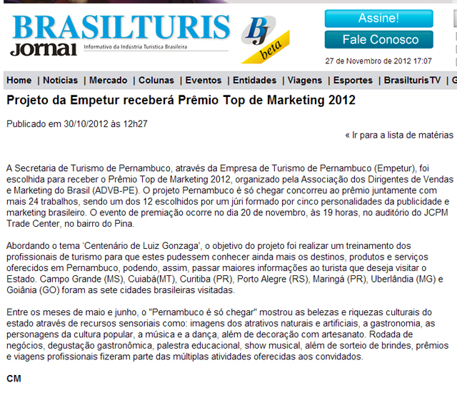 Brasilturis Empetur Top Clipping