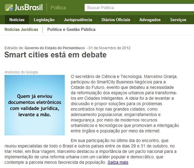 JusBrasil Clipping